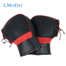 лучшая цена LMoDri Motorcycle Scooter Hand Warm Gloves Motorbike Thickening Hands Warmer Coves Coldproof Handlebar Muffs Waterproof