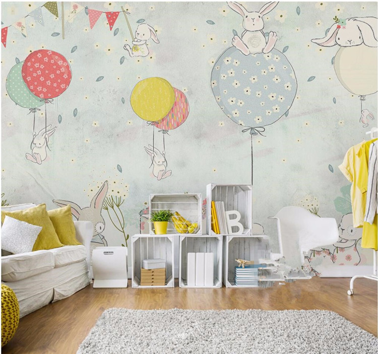 Painting Supplies & Wall Treatments Humorous 0.53x10m Retro Creative House Pattern Wallpaper Living Room Bedroom Childrens Room Kindergarten Tv Sofa Background Wall Paper Always Buy Good Home Improvement
