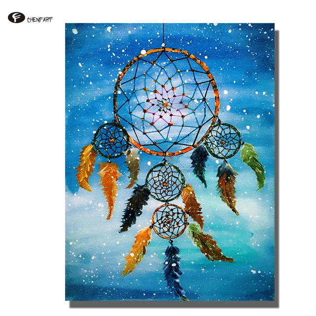 Chenfart oil painting classical dream catcher posters and for Dream catcher spray painting