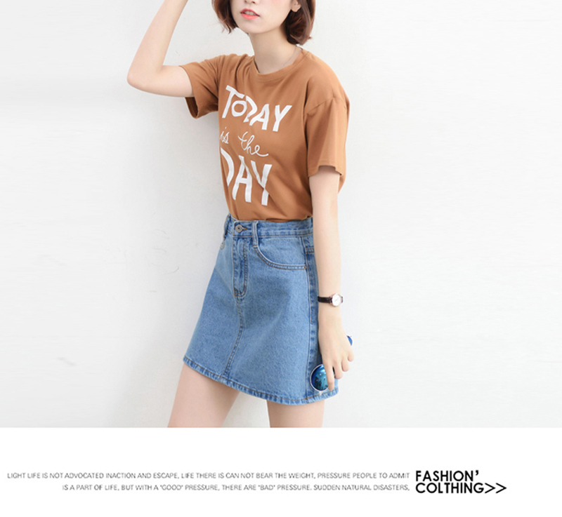 Lucyever Fashion Korean Summer Women Denim Skirt High Waist Black Mini Skirts Package Hip Blue Jeans Harajuku Plus Size Cotton 24