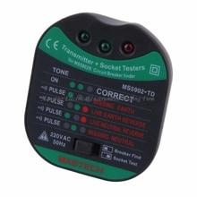 EXPEDIÇÃO RÁPIDA MS5902 Disjuntor LED Tester Localizador MASTECH Zeroline CATII 600 V 220 V EU