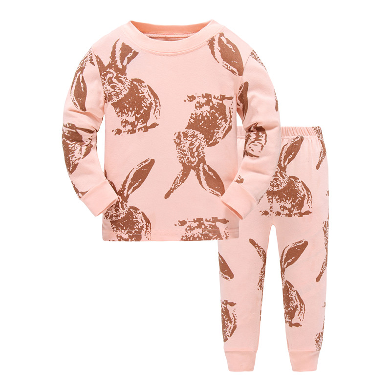 Kids Pajamas Sets Girls Cartoon Sleepwear Boys Cotton Long Sleeve Nightwear Sets Children Pyjamas Aircraft Pattern Fall Pajamas