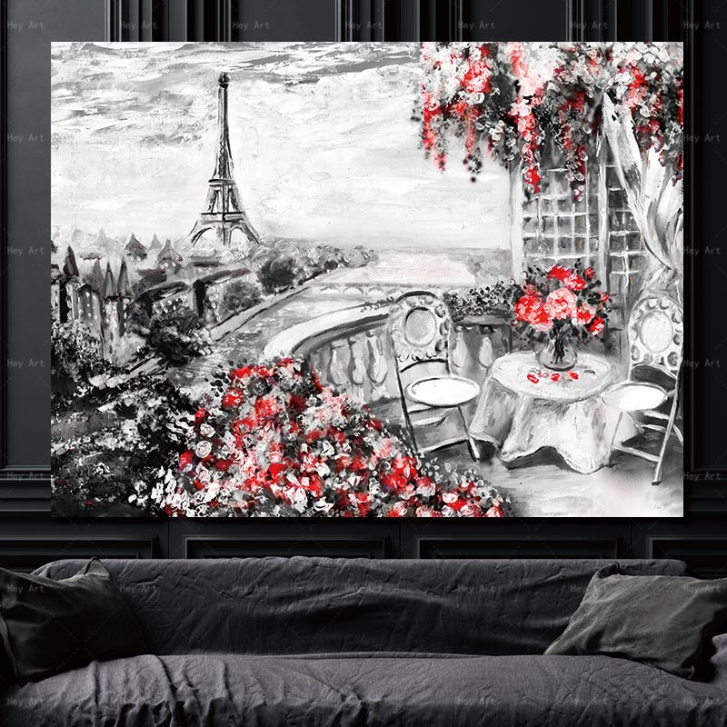 modern poster picture wall art prints City landscape canvas painting artwork for living room