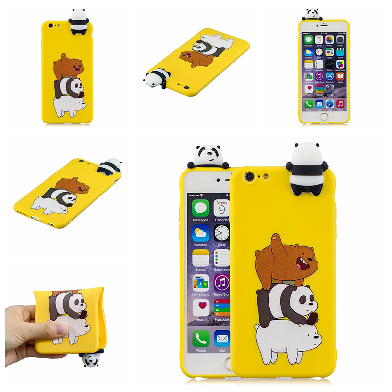 3D Cute cartoon doll silicone case for iphone 6 iphone 6s cases soft tpu back cover capas fundas hoesje coque etui kryt tok in Fitted Cases from Cellphones Telecommunications