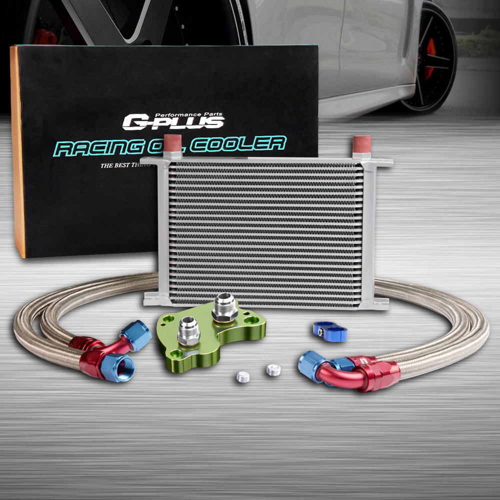 25ROW ENGINE OIL COOLER RELOCATION KIT FOR BMW MINI SUPERCHARGER COOPER S R53 Green 25row engine oil cooler relocation kit for bmw mini cooper s r56 turbo 06 12 bk