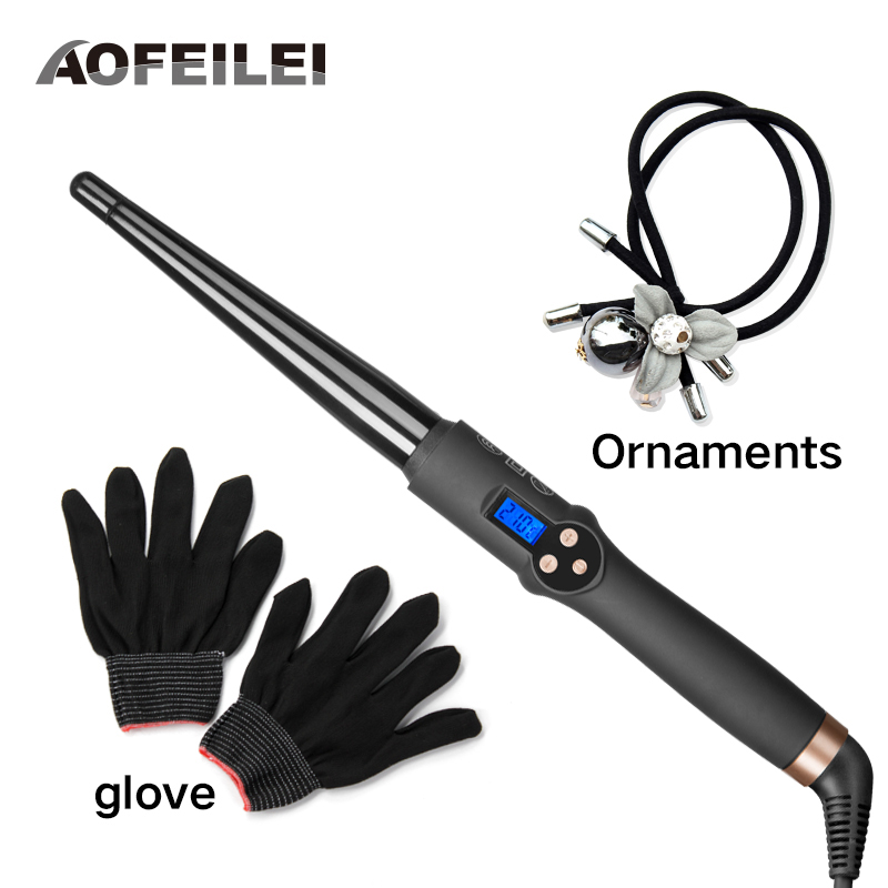 AOFEILEI New Arrival Hair Tools Professional Hair Curling Iron Hair Waver Ceramic Hair Curler Curling Wand Fashion Curl Iron