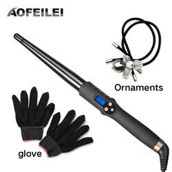 Aofeilei nova chegada ferramentas de cabelo profissional ferro ondulação do cabelo vacilar cerâmica modelador de cabelo curling wand moda curl ferro