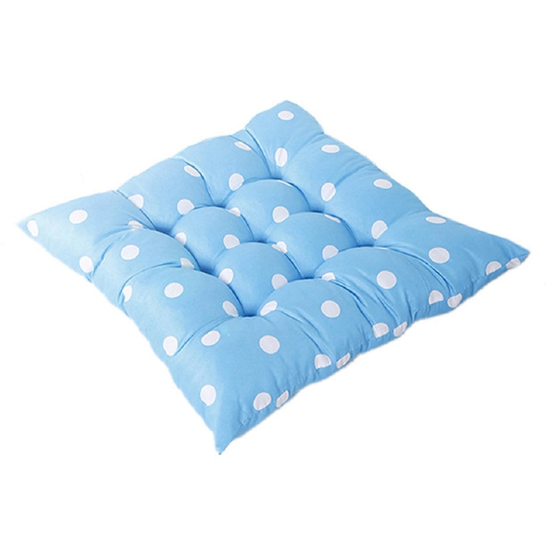 Free Shipping 40 40cm Chair Pad Cushion Pearl Cotton: Home Office Square Cotton Polka Dot Seat Cushion Buttock