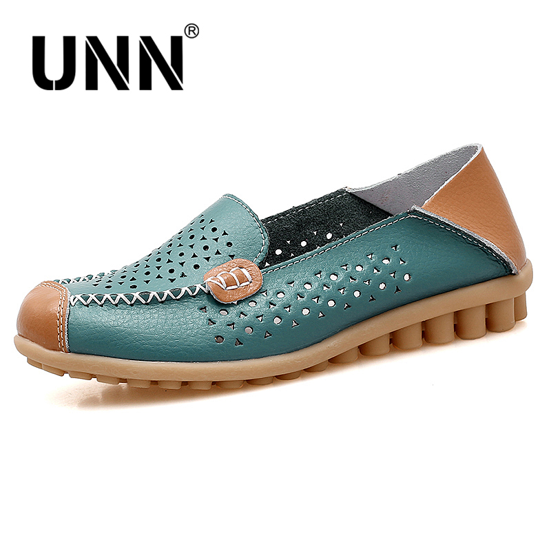 UNN Hot Selling Genuine Leather Shoes Women Ballet Flats Loafers Summer Moccasins Ladies Slip On Casual Flat Shoes Ballerina 2018 new genuine leather flat shoes woman ballet flats loafers cowhide flexible spring casual shoes women flats women shoes k726