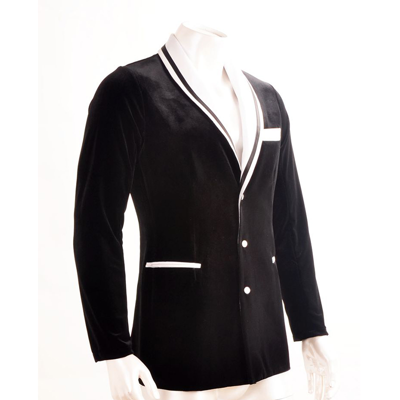 New Professional Men Ballroom Latin Dance Tops Good Quality Black Long Sleeves Jacket For Sale Cha Cha Rumba Stage Dancing Wear