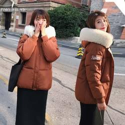 PinkyIsblack Winter Jacket Women 2019 New Fashion Slim Female Winter Coat Thicken Parka Down Cotton Clothing Fake fox fur collar 4