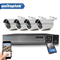 4CH HD 1080N Video DVR Recorder CCTV Camera System Kit With 4Pcs 1200TVL 720P AHD Bullet