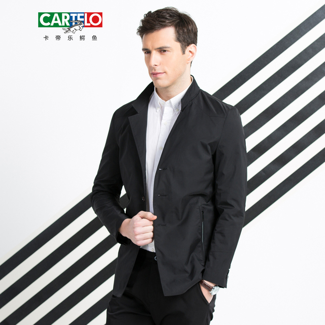 CARTELO New business Jacket Men Overcoat Casual bomber Jackets Mens Single breasted outwear coat masculina homme brand clothing