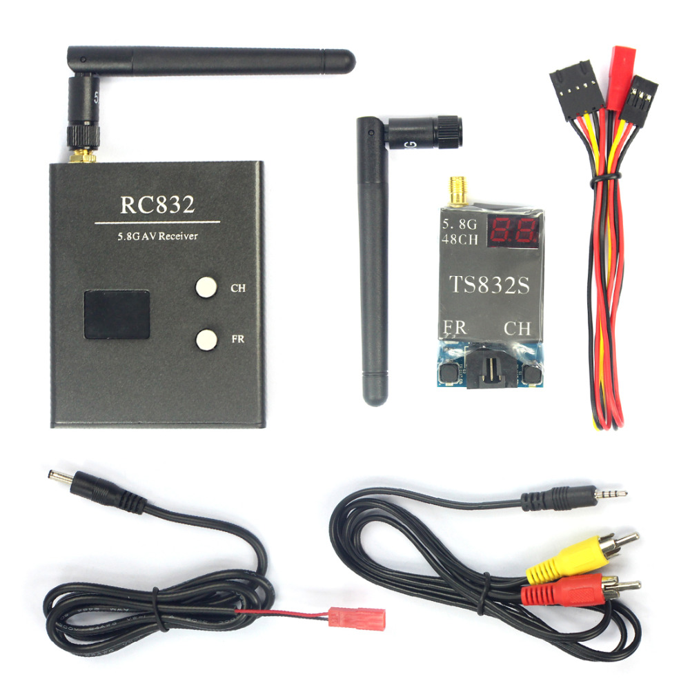 FPV 600mw Aerial Photo Studio RC832+TS832 5.8G 40CH AV Transmitter & Receiver System Drone Accessory Parts Features Blaack 07270