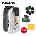 NUX B2 B-2 Gitarre Wireless System 2 4 GHz Wiederaufladbare 4 Kanäle Wireless Gitarre Audio Sender Empfänger