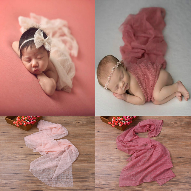 Newborn photo prop wraps mohair knit soft stretch photography props popcorn stretchy baby wrap infant