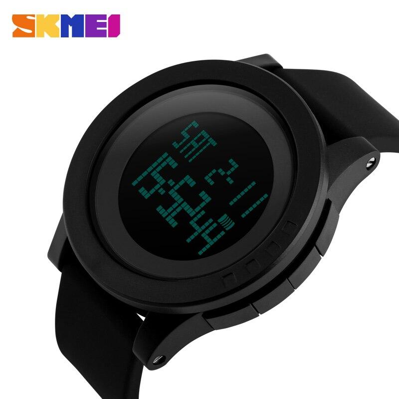SKMEI Men LED Sports Watches Fashion Silicone Strap 50M Waterproof Military Watch Digital Wristwatches Relogio Masculino
