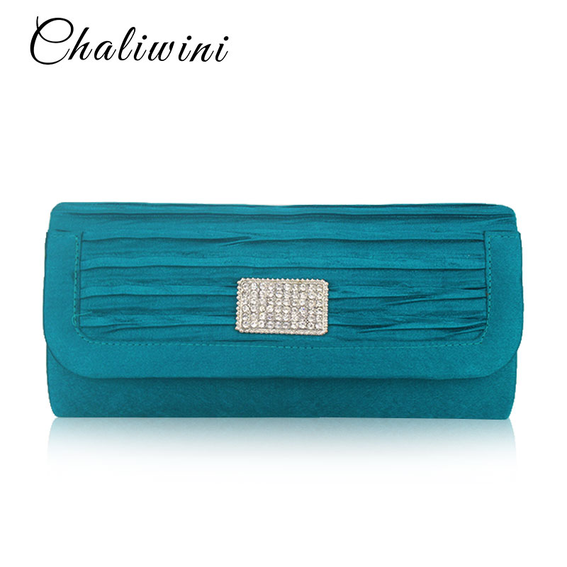 Bags For Women 2019 Satin Clutch Bag Evening Shoulder Blue Cell Phone Pocket Bay Handbag Clutches Bags Lady Wallet Toiletry Bag