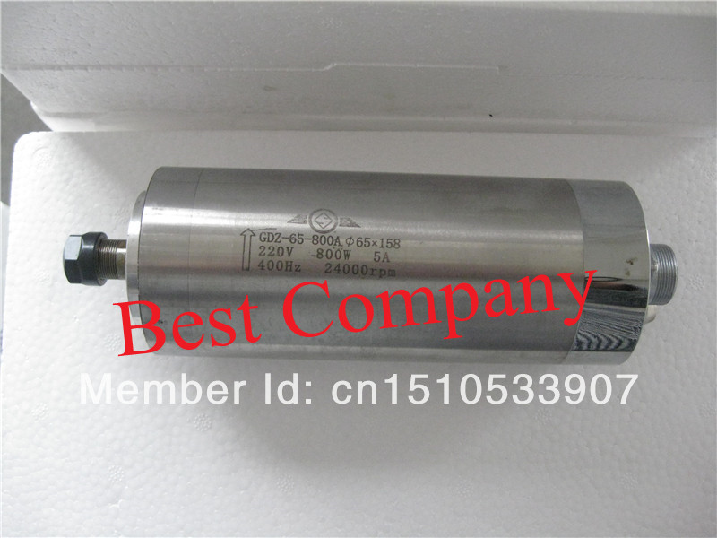800w water cooled spindle motor ER11 220VAC wood working 0 8kw spindle motor cnc milling Water