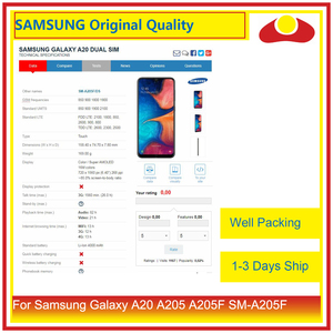 """Image 3 - Original 6.4"""" For Samsung Galaxy A20 A205 A205F SM A205F LCD Display With Touch Screen Digitizer Panel Pantalla Complete"""
