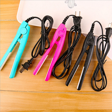 New Mini Electric Ceramic Hair Straightener Care Straightening Crimper Professional Styling Multifunction Curler