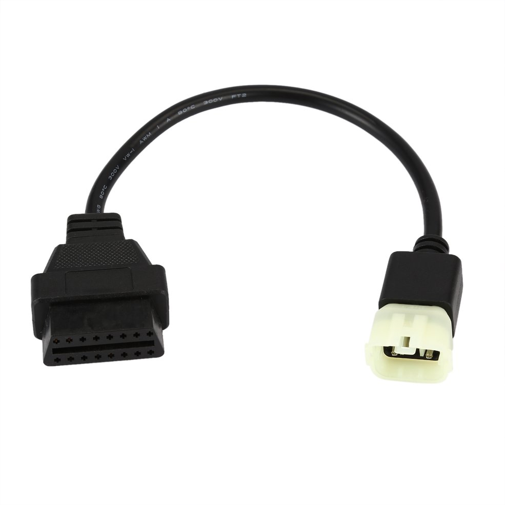 KTM 6 Pin To Obd 16 Pin Adapter Cable For TuneECU Software To Motorcycle Motorbikes ECU 6pin Cable