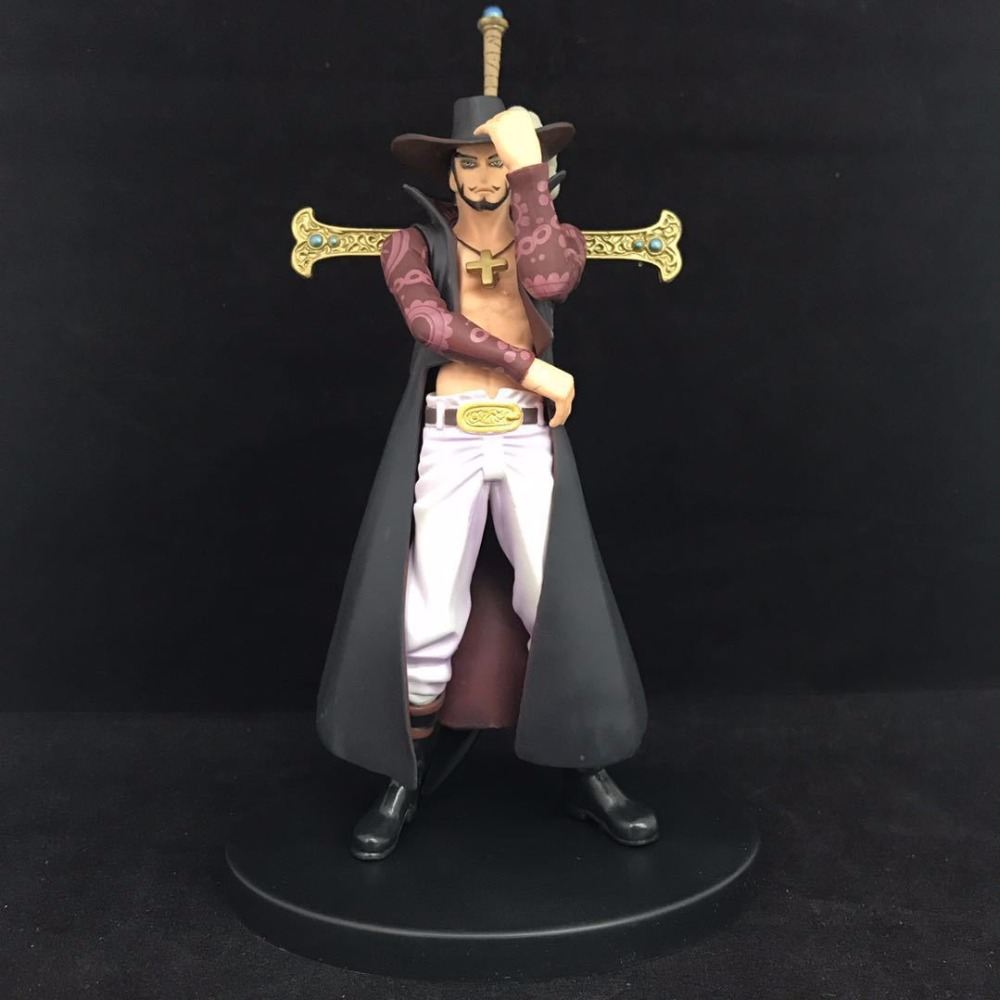 One Piece Anime Hawkeye Mi Huoke DX Onepiece New World Action Figure Toys 18cm PVC Kids Collection Model