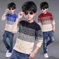 Meninos 2016 Outono Bebê Camisola Roupas Casuais Crianças Grandes Meninos Sweaters Crianças O-pescoço Pullover Roupa Do Bebê Meninos Outerwear Topo