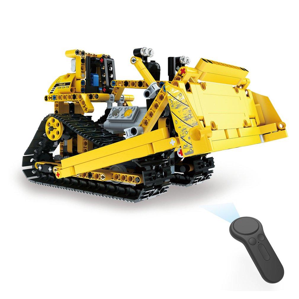2,4g 4 H 535 Stücke Diy Baustein Rc Crawler Bulldozer Lkw Elektrische Rc Auto Usb Lade Für Kinder Bau Fahrzeug Spielzeug Geschenk Weniger Teuer Rc-lastwagen