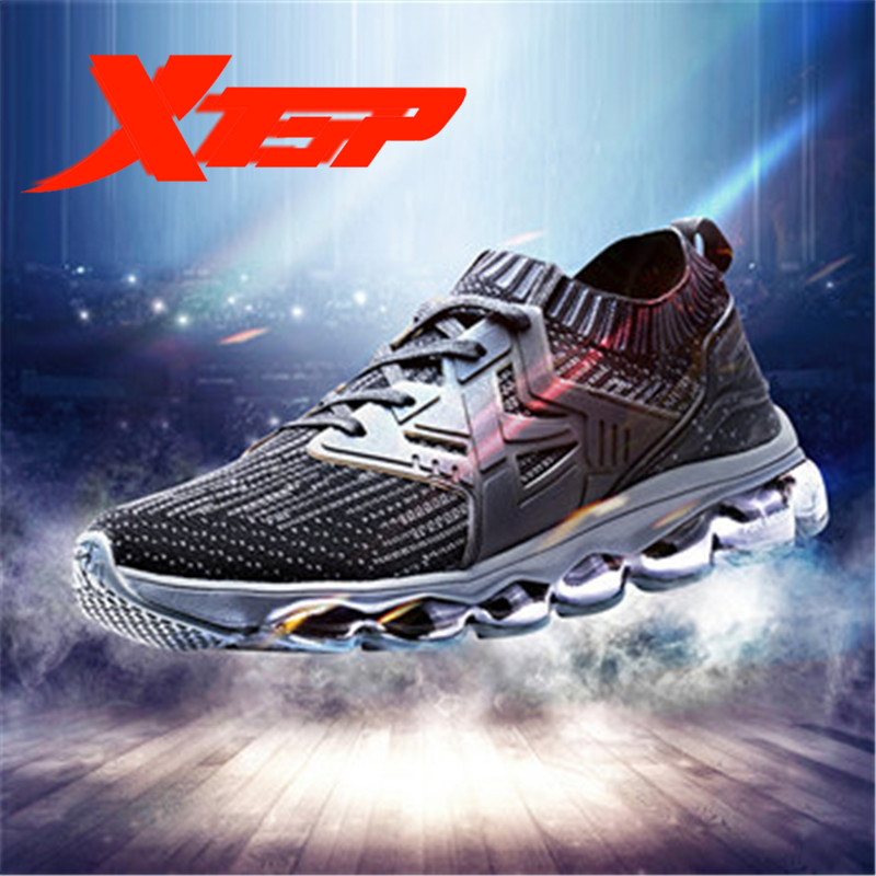XTEP 2018 new Men's Air sole Mesh Trainers Athletic Sports Training Sneakers Running Shoes for Men free shipping 982119119528