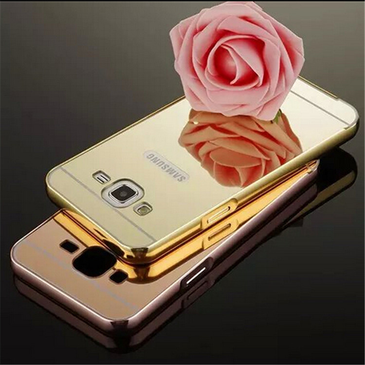 newest 5b763 5b40e US $3.02 |Mirror Style J5 Gold Plating Aluminum Metal Frame Case For  Samsung Galaxy J5 J5008 J5000 J500F Luxury Acrylic Phone Back Cover on ...