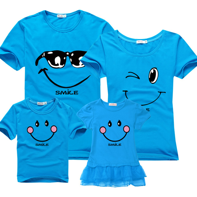Family matching clothes mother girl dresses