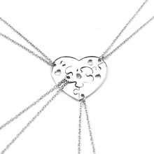 Europe and America New style 4 pcs/set broken heart stitching best friends sets of chains Good sister friendship necklace