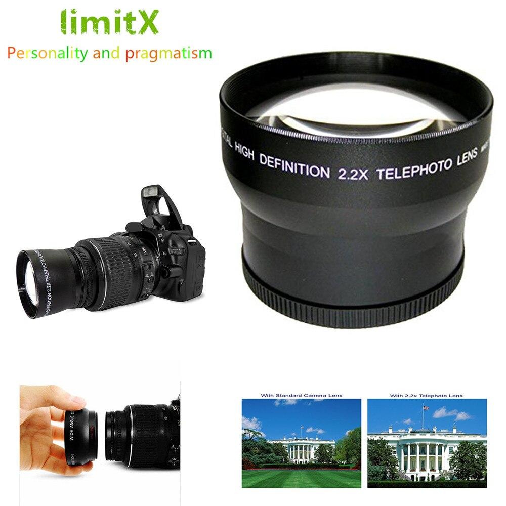 Телеобъектив с увеличением 2,2x для Panasonic LUMIX, объектив с увеличением для камер Panasonic LUMIX, с камерой FZ50, FZ50, FZ80, FZ82, FZ70, FZ72, FZ50, FZ30, с возможностью ув...
