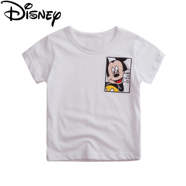 07dd4a92de4a Disney Mickey Minnie Tops Children T shirts Boys Clothes Kids Tee ...
