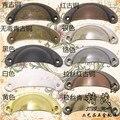 10 unids hierro manija del cajón del gabinete 10 diferentes colores de Shell estilo ( cc : 63 MM )