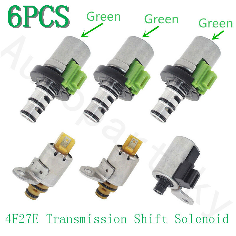 Genuine Remanufactured 48421A 48420K-R Gearbox 4F27E Transmission Shift Solenoid Valve For Ford Focus Fiesta For Mazda 4 5 speed(China)