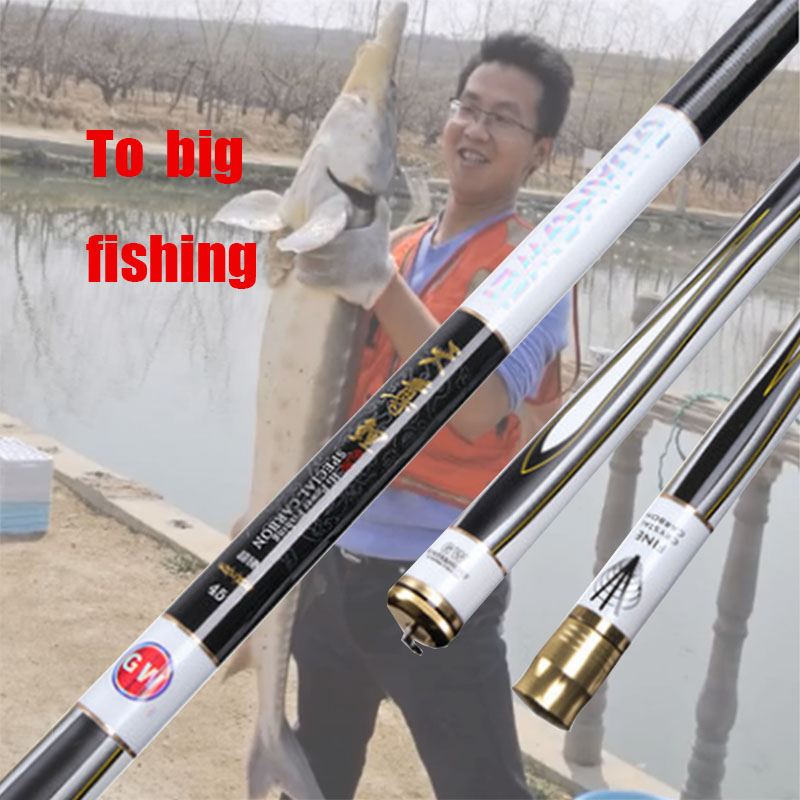Get 29 KG Big Fishing High Carbon Taiwan Telescopic Fishing Rod Power Hand Pole Ultra-light Super-hard Fishing Tackle high quality taiwan fishing rod carp fishing pole power xh 3 6m 4 5m 5 4m 6 3m 7 2m 8 1m 9m 10m ultra light super hard tackle
