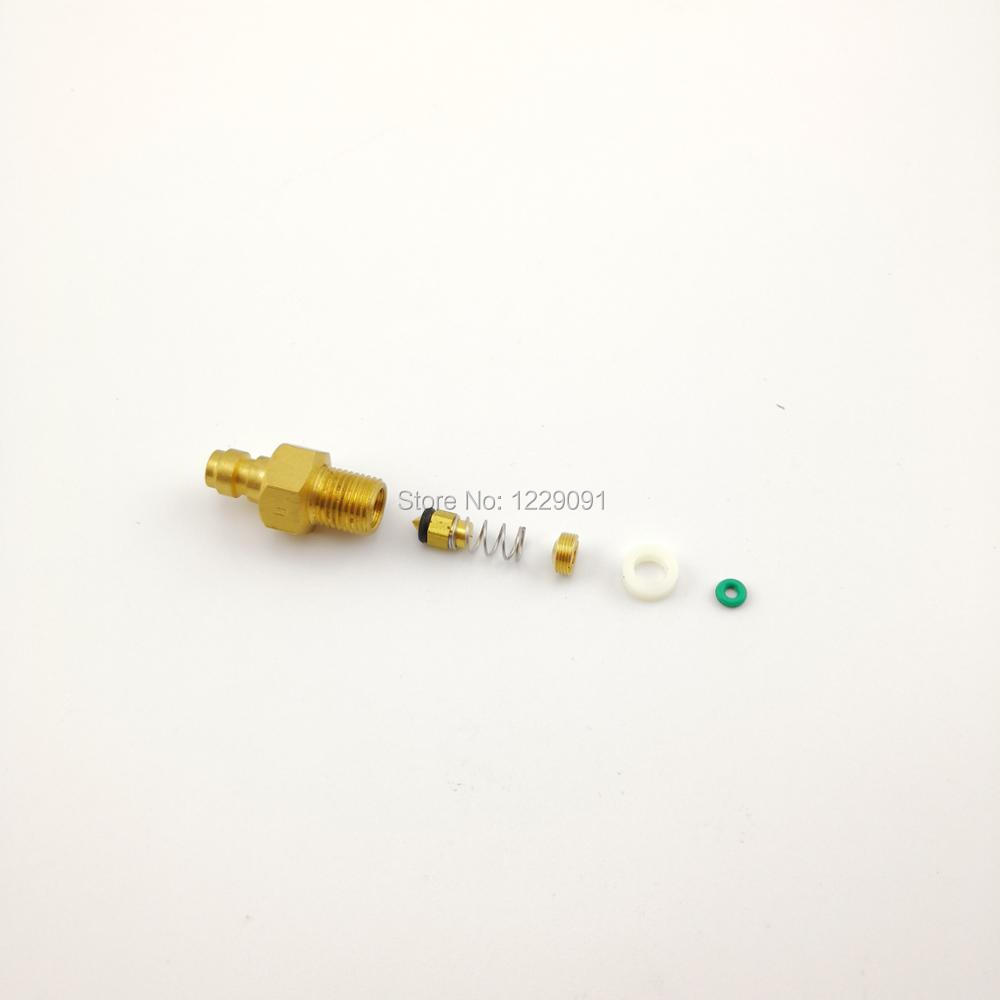 Paintball Airsoft Air Gun PCP 8MM Male Quick Head Connection Check Valve One Way Foster Fill Nipple Kit