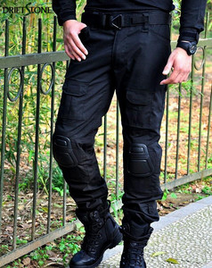 Image 3 - Camouflage Military Tactical Pants Army Military Uniform Trousers Airsoft Paintball Combat Cargo Pants With Knee Pads
