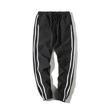 2018 summer thin section casual pants nine pants elastic striped pants Harem Pants Men Long Trousers Joggers Hip Hop Sweatpant цена