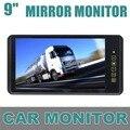 DIYKIT 9 Дюймов TFT ЖК-Дисплей Заднего Вида Автомобиля Зеркало Монитор С 2 Видео Вход Для Parkign Система Автомобиля CCD Камеры Cam/DVD