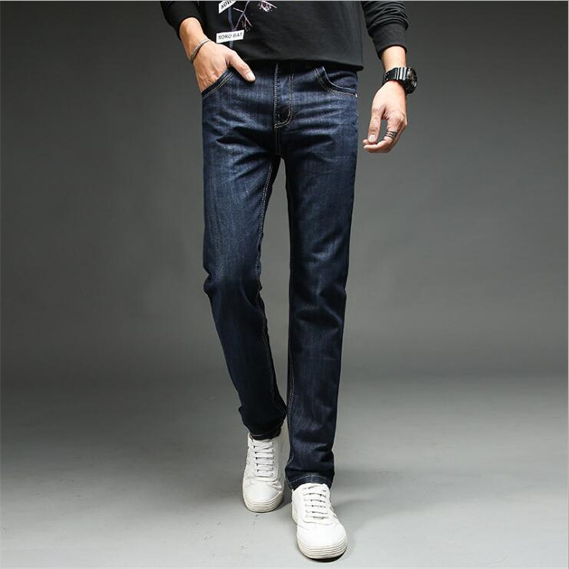 Men Clothes 2018 Big Size Loose Casual Jeans Men Summer Korea Style Youth Straight Slim Blue Fashion Mens For Jeans Homme Blue