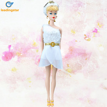 LeadingStar Doll Fashion Clothes White Plush Splicing Skirt Casual Dresses for Barbie Doll barbie skirt collectors