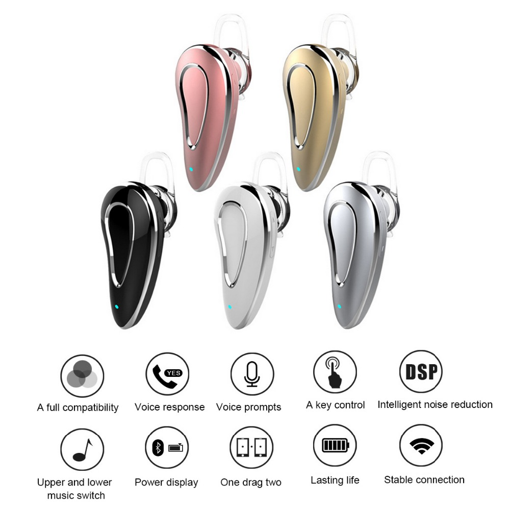 Mini Style Wireless Bluetooth Earphone CRS4.1 Sport Headphone Phone Headset With Micro Phone For Iphone Mobile Phone PC P20