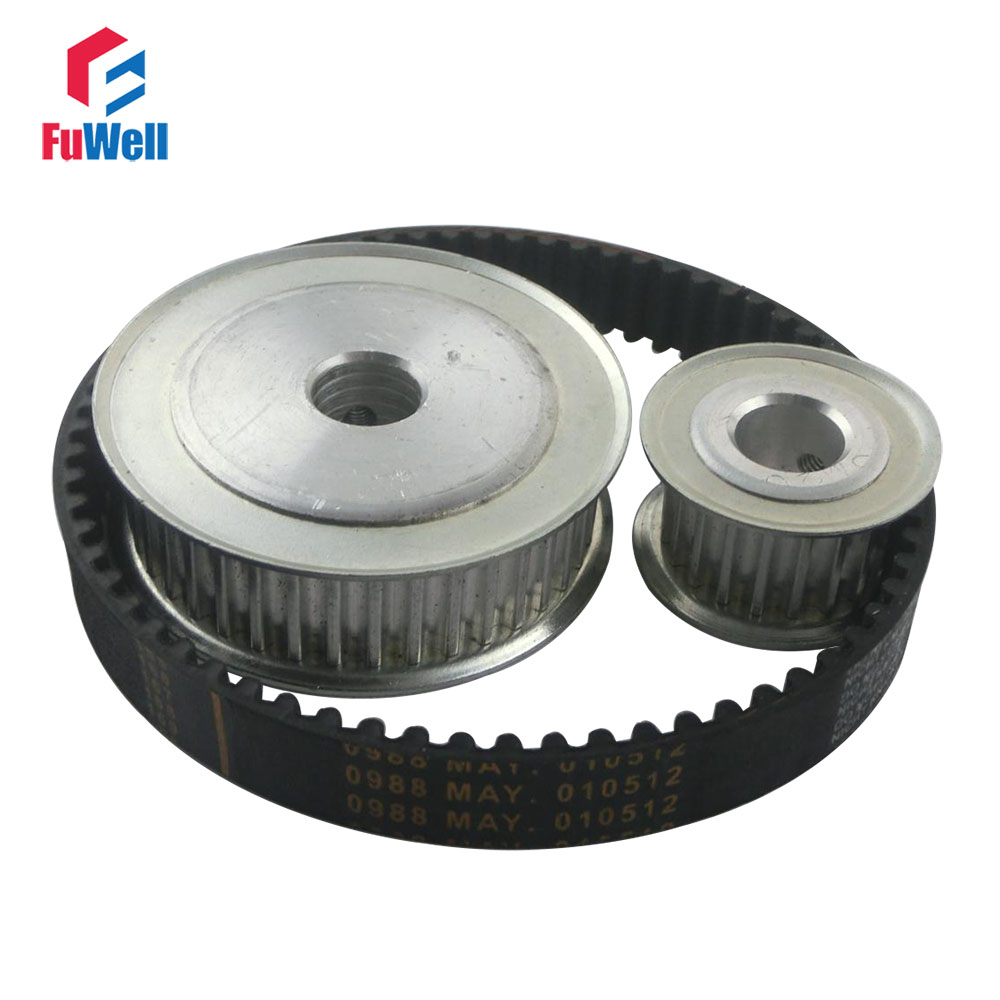 HTD 5M Reduction Timing Belt Pulley Set 20T:60T 1:3/3:1 Ratio 80mm Center Distance Toothed Pulley Kit Shaft 5M-375 Gear Pulley toothed belt drive motorized stepper motor precision guide rail manufacturer guideway