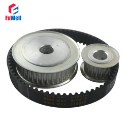 HTD 5M Reduction Timing Belt Pulley Set 20T:60T 1:3/3:1 Ratio 80mm Center Distance Toothed Pulley Kit Shaft 5M-375 Gear Pulley