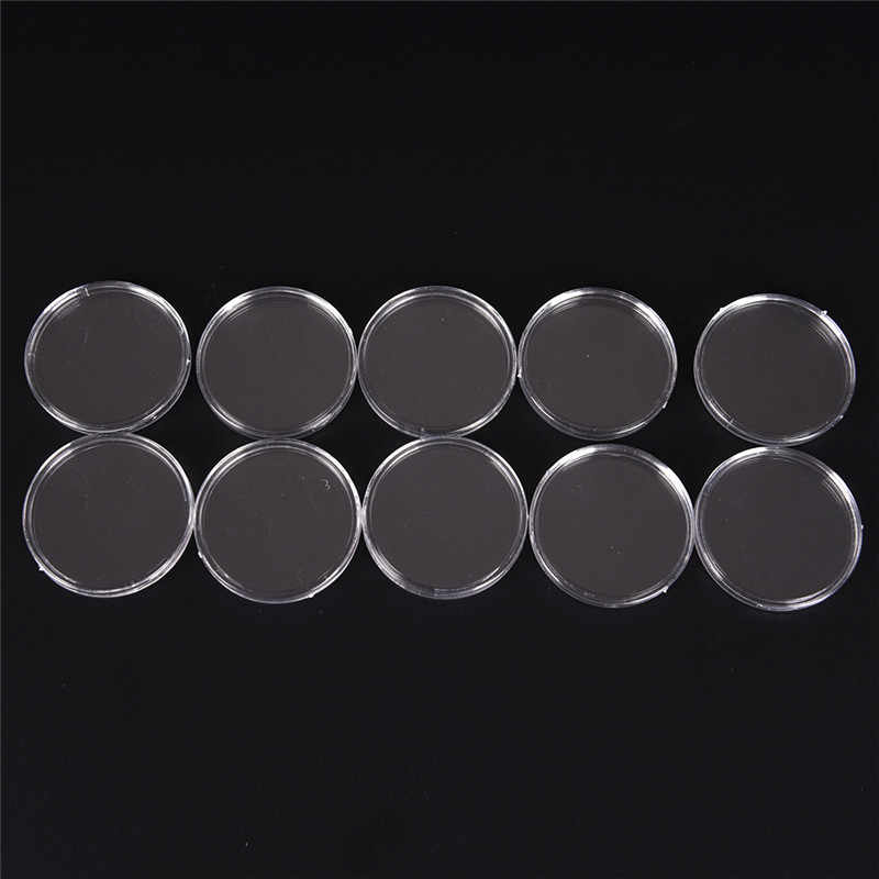 10Pcs 40mm Round Case Box Coin Storage Applied Capsules Holders Display Tools
