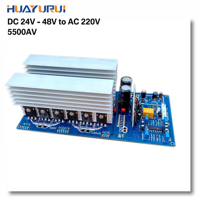 Peak 11000W continued 3000W 5000W 5500W DC24V/36V/48V to AC 220V ...
