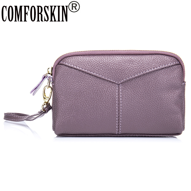 New Arrival Feminine Famous Brands Shell Style Casual Day Clutches Good Quality Split Leather Women Hand Bag 5 Color On Sales